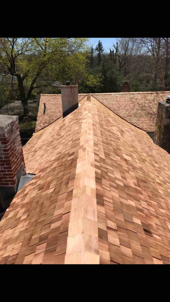 wood shingles rood